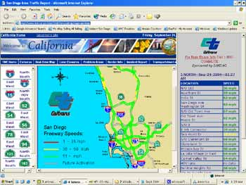 San Diego Traffic Map