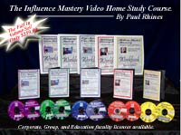 Communication Training DVD Set - Influence Mastery by Paul Rhines